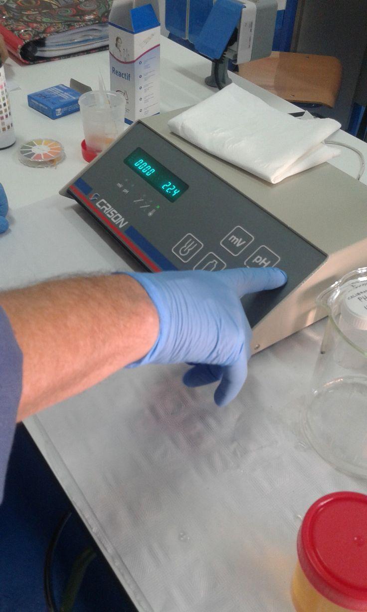 4. Pulsar el botón de pH