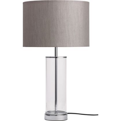 Grace Table Lamp - Light Grey at Homebase Dimensions: Height Diameter