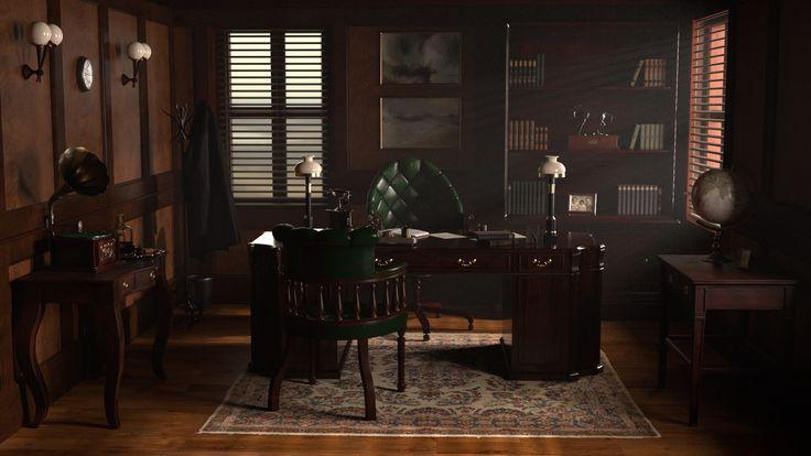 Office inspired by Peaky Blinders – #Ada #Alfie #Background #BehindTheScenes #Bl…