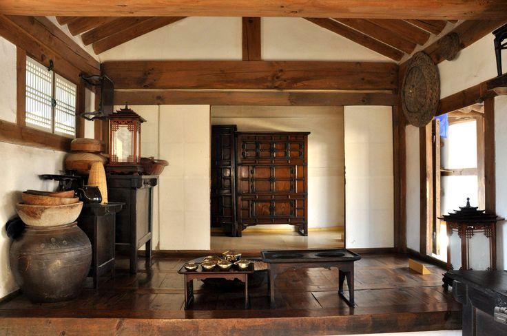 korean traditional house interior design - Recherche Google