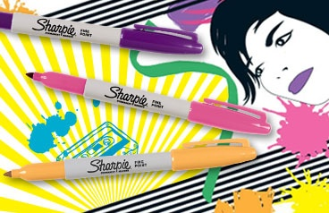 Sharpies: Endless uses in designer colors.  (Just don't mix them up with your dry-erase pens).