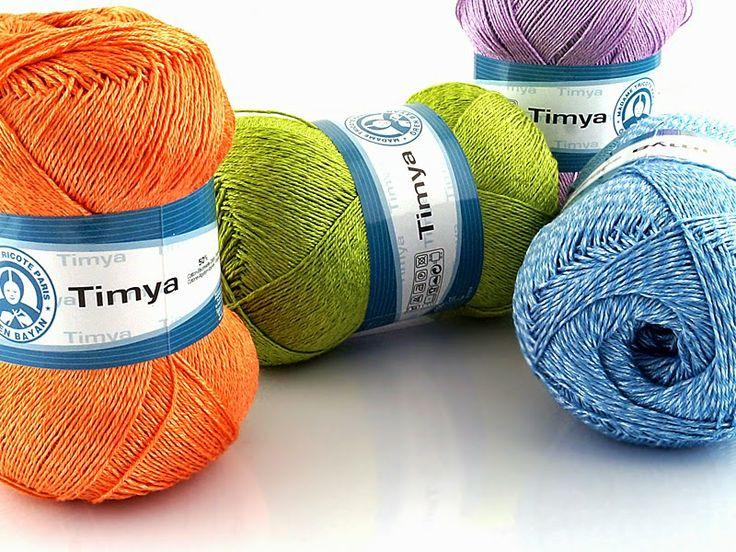 Włóczka Timya mieszanka bawełny i poliestru. Charakteryzuje się delikatnym połyskiem. Bardzo cienka i mocna nitka. Doskonała na serwetki, bikini i inne wyroby