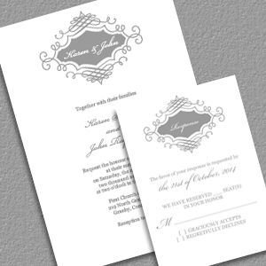Printable Wedding Invitation and RSVP | DIY Template | Simple and Elegant |