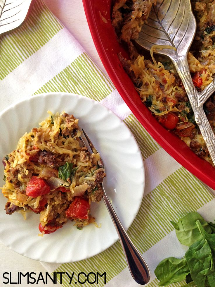 Spaghetti noodles are often missed on the clean eating/paleo menu, but spaghetti squash is a great and healthy alternative. Give this a try and let your taste buds decide!