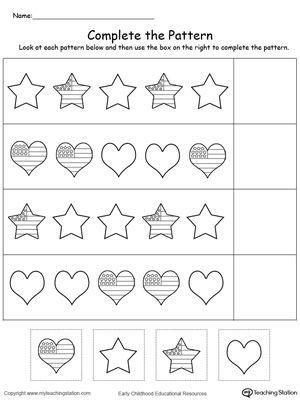 17 best images about patterns worksheets on pinterest shape the ice and children. Black Bedroom Furniture Sets. Home Design Ideas
