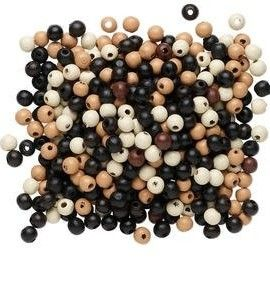 500pc-Eco-friendly-Wood-Beads-7-8mm-Mixed-Colors-0