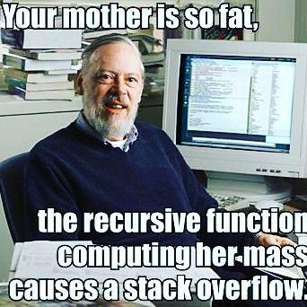 Om du fattar så fattar du. Om inte lita på mig det är kul! #nördhumor #programering #geekhumor #programming #computerscience #meta