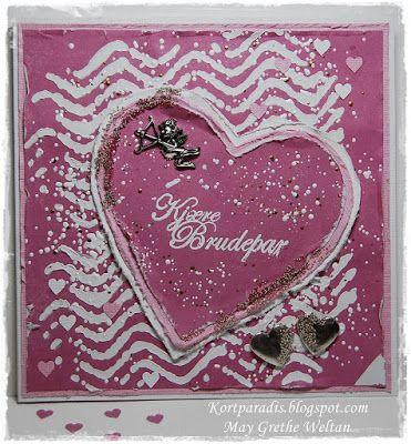 Bryllupskort Bryllup scrapping Handmade Kortparadis Easelcard staffelikort Korthobby NSD North Star Design wedding weddingcard Metall Charms Metallpynt