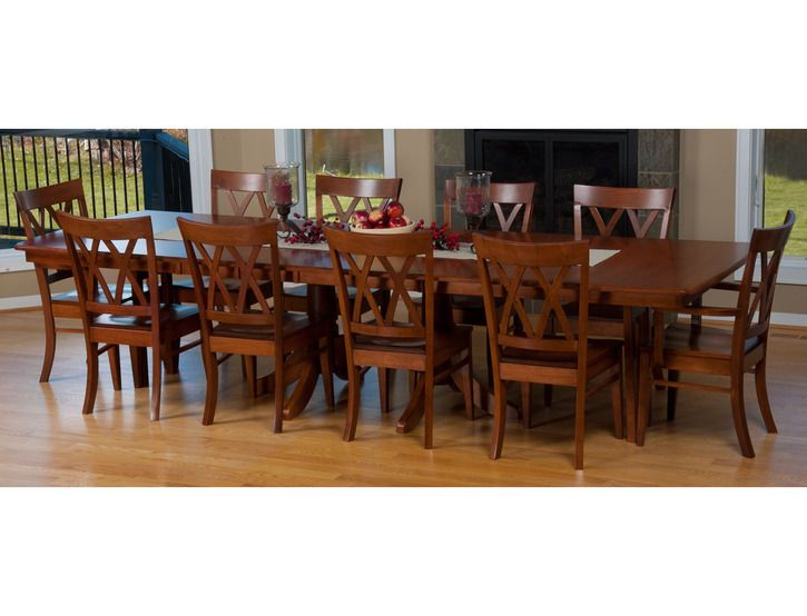 Baytown Double Pedestal Extension Table