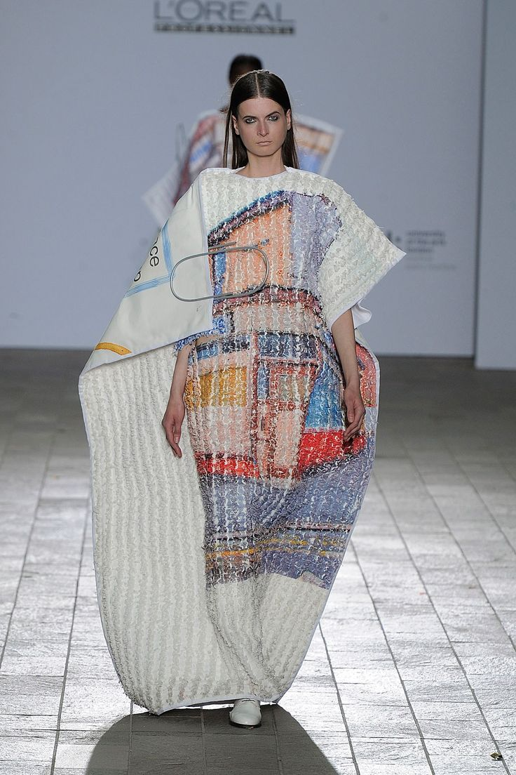 Central Saint Martins FW 2013 -treament on top of print