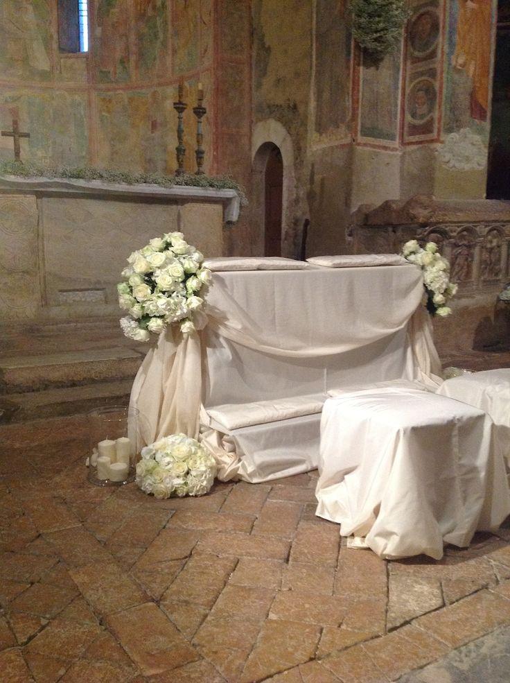 addobbo per la chiesa, Umbria wedding