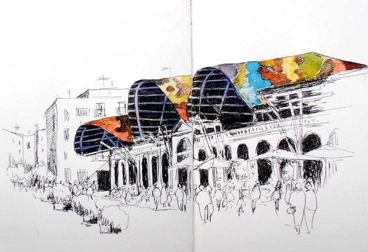 Mercat Santa Caterina, Barcelona.