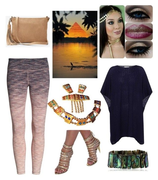 """Nile Sunset"" by hellenrose7292 on Polyvore featuring Zella, The Row and Express"