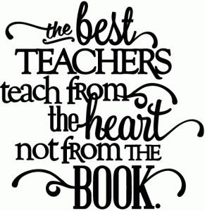 Silhouette Design Store - View Design #47048: best teachers teach from the heart - vinyl phrase