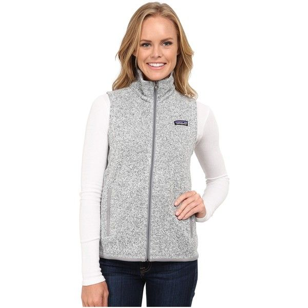 Patagonia Better Sweater Vest (Birch White) Women's Vest ($70) ❤ liked on Polyvore featuring beige and patagonia