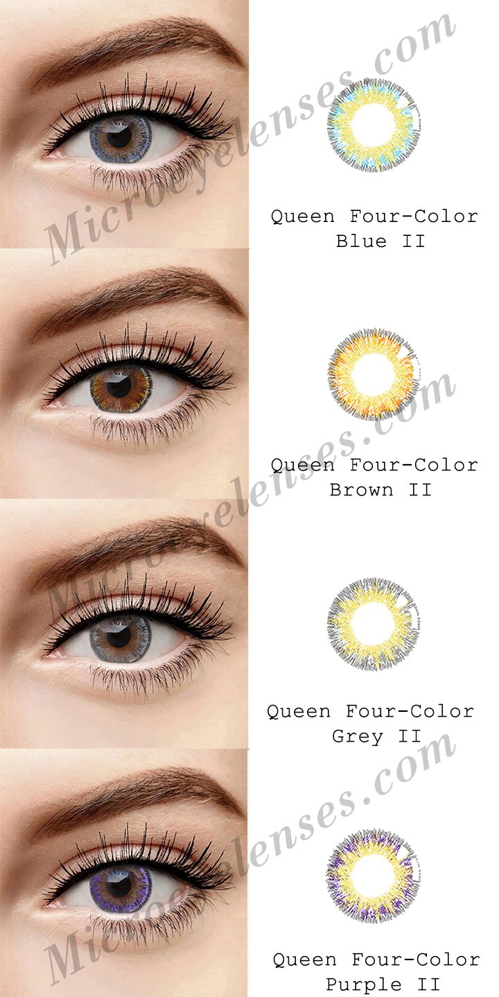 Microeyelenses Com Colored Contact Lenses Online Shop Queen Four Color Ii Series Blue Brown G Contact Lenses Colored Colored Contacts Contact Lenses Online