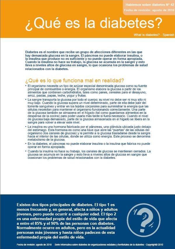 Información de la Diabetes - Español / Español - Diabetes Australia