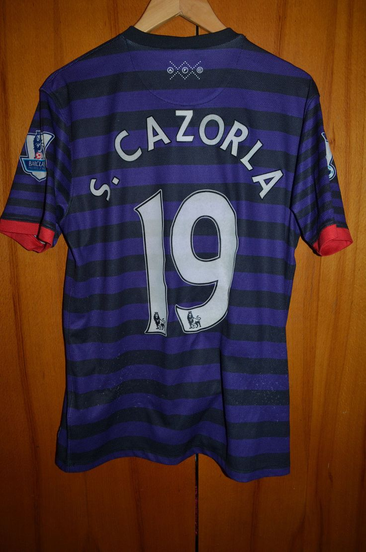 #Arsenal london 2012/2013 away #football shirt #jersey maglia nike #19 cazorla,  View more on the LINK: 	http://www.zeppy.io/product/gb/2/162305970736/