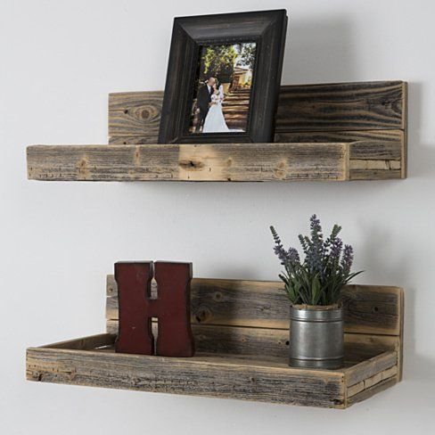 Buy Reclaimed wood floating shelves by (del)HutsonDesigns on OpenSky                                                                                                                                                      More