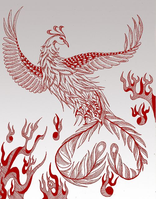 vermilion bird of the south | Vermilion Bird (朱雀) of the South | Flickr - Photo Sharing! The Vermillion Bird of the South was the god of fire and a symbol of good luck and summer.