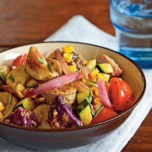 Farmers' Market Potato Salad Recipe.Green Salad, Lights Recipe, Potatoes Salad, Salad Recipes, Potato Salad, Cooking Lights, Summer Salad, Farmers Marketing, Marketing Potatoes