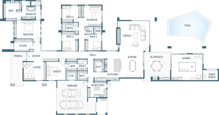 floor plan 5 bedroom with wings