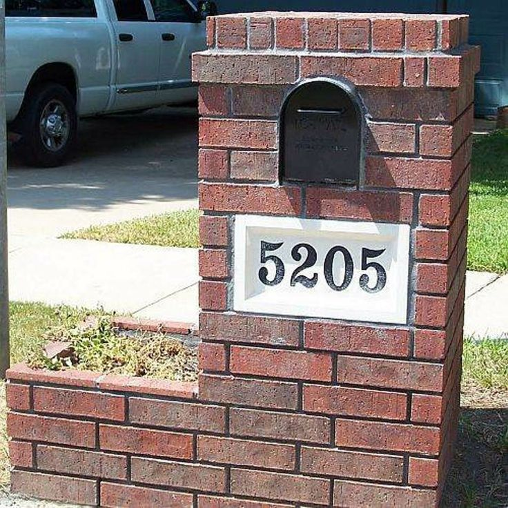 brick mailboxes | no planter and light on top