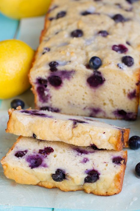 Blueberry Lemon Loaf Cake is easy to make and perfect with a cup of tea or coffee