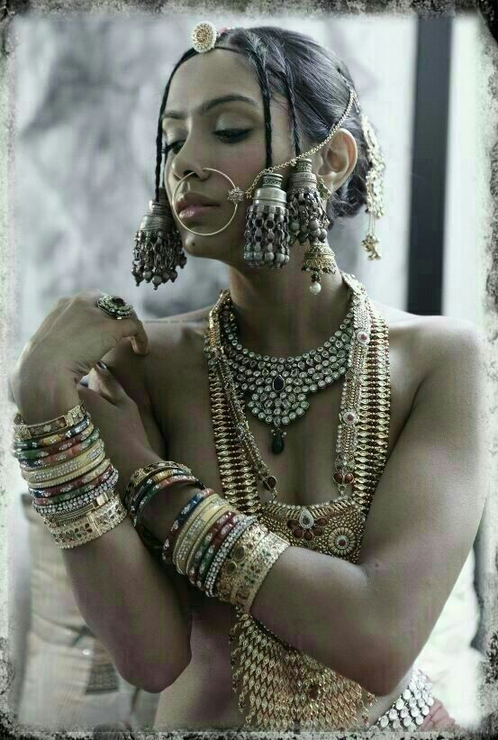 Naked desi girls with ornaments
