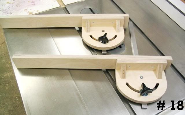 Shop Built Miter Gauge. In the process of finding a way to make one in relation to making a shooting board that uses a miter gauge to set any angles vs. a shooting board with a fixed angles
