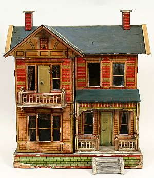 antique dollhouseDollhouse Stuff, Miniatures Dolls, Dollhouse Exterior, Dollhouse Design, Vintage Dollhouse, Antiques Dollhouse, Vintage Toys, Dolls House, Dollhouse Miniatures