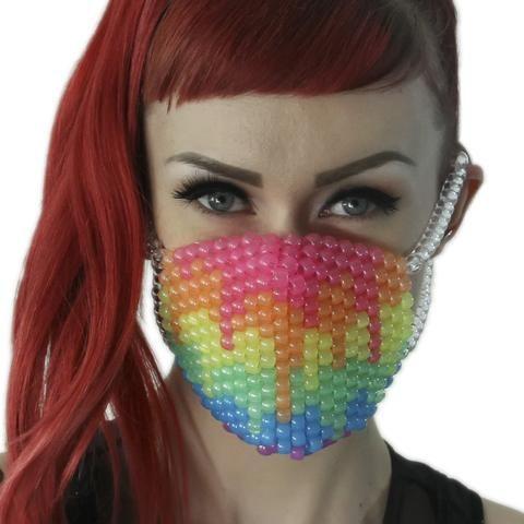 Glow Rainbow Drip Surgical Kandi Masks – Kandi Gear  www.KandiGear.com
