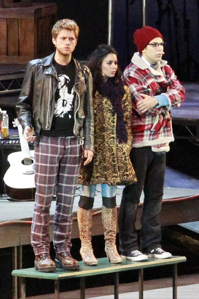 "Vanessa Hudgens, Aaron Tveit, and Skylar Astin in ""Rent"" at the Hollywood Bowl!"