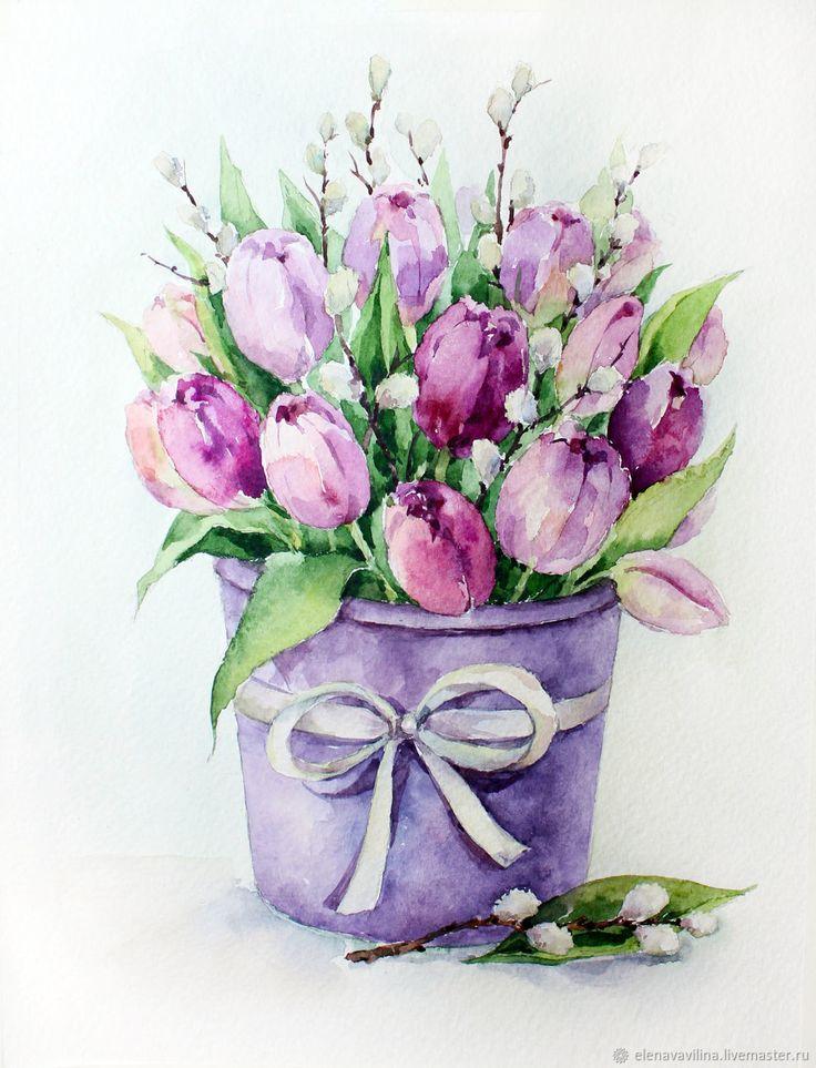 Текстом смыслом, тюльпаны рисунки открытки