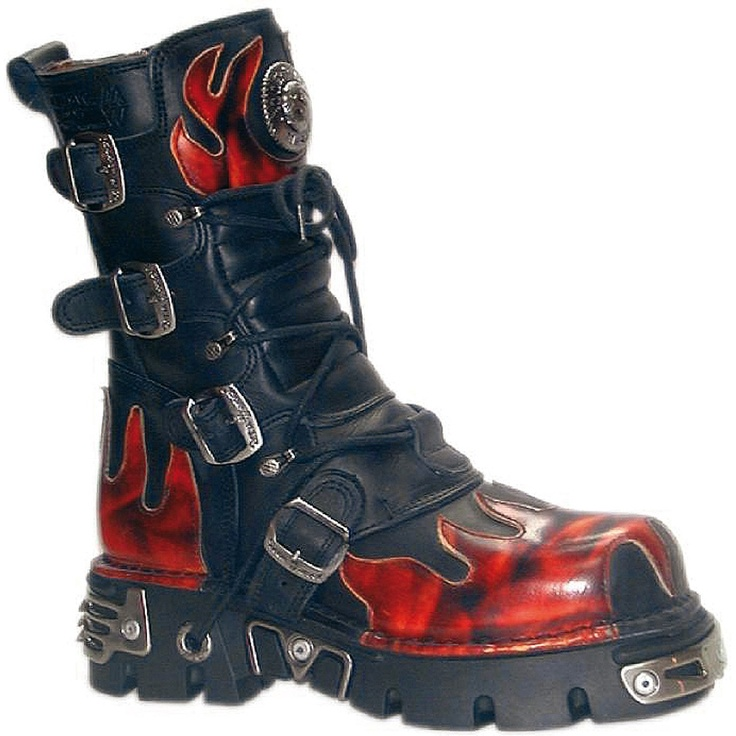 New Rock Boots, rocker, punk , biker and gothic style boot... LOVE
