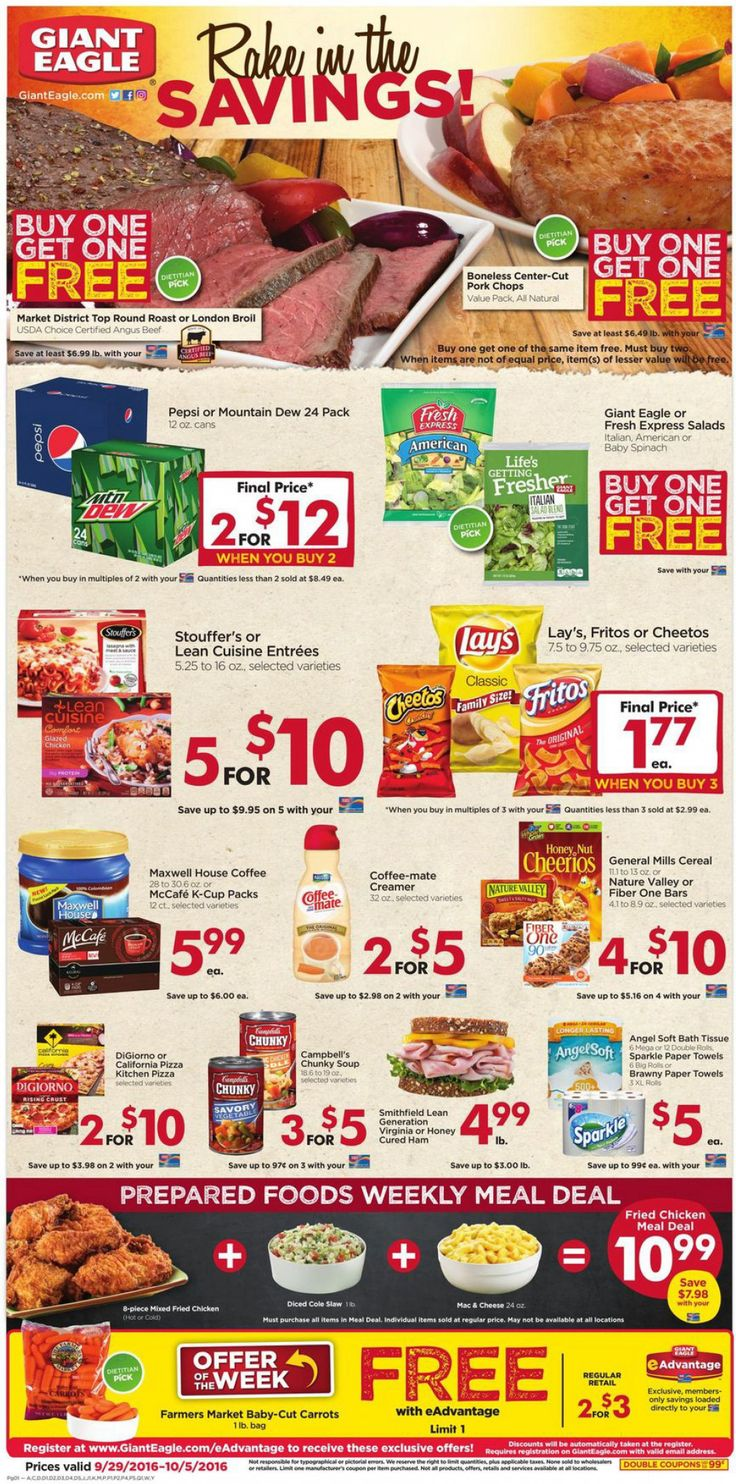 Giant Eagle weekly ad Sep 29 - Oct 5, 2016