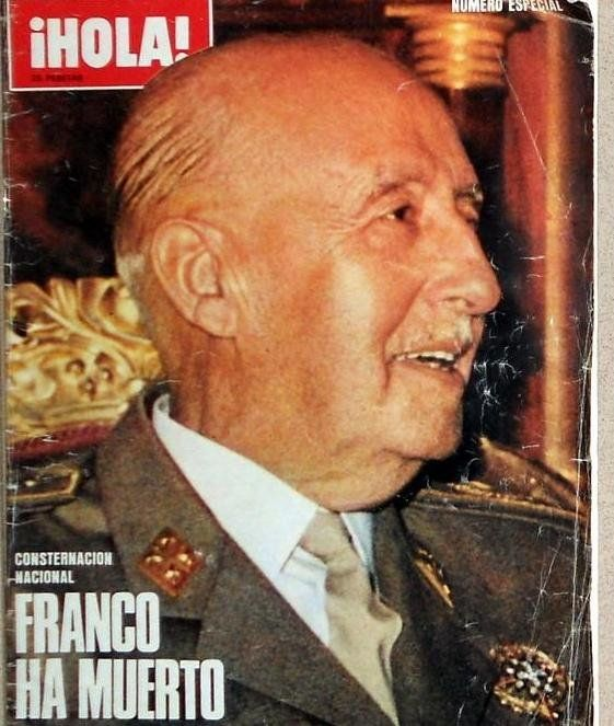 Portada de la Revista Hola, Francisco Franco, 1975.