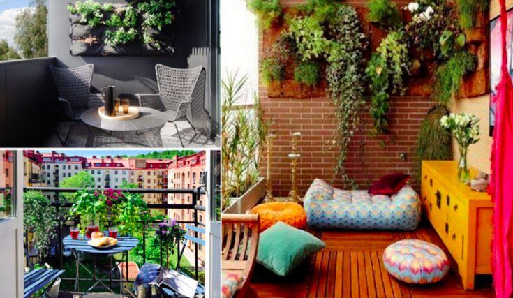 Une cinquantaine d'idées de jolis aménagements pour petits balcons
