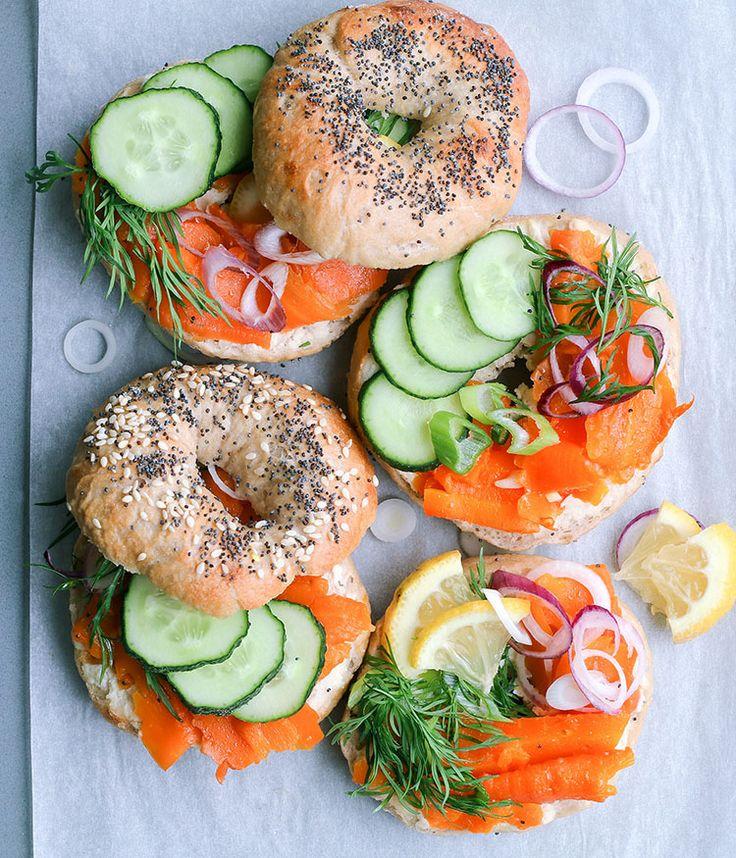 Maikki the sake of convenience: Carrot-cold-smoked salmon -bagelit | Carrot lox…