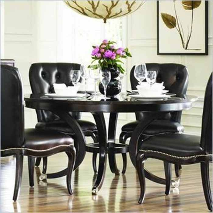 Formal Round Dining Room Tables Entrancing Decorating Inspiration