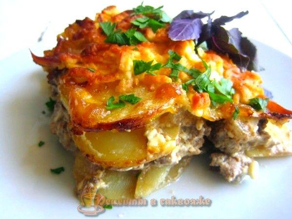 Сегодня предлагаю картофель запеченный с мясом, пошаговый рецепт приготовления с фото. Кто из вас готовил мясо по-французски? Моя вариация на тему.