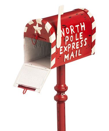Love this Red 'North Pole Express Mail' Mail Box Décor on #zulily! #zulilyfinds