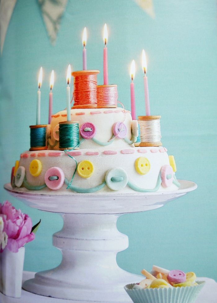 Would be a super cute La La loopsy cake! Buttons & Spools ~ cake for the birthday girl who loves to sew