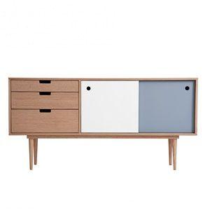 Sideboard - Eiche/Grau/Weiß von Kann Design