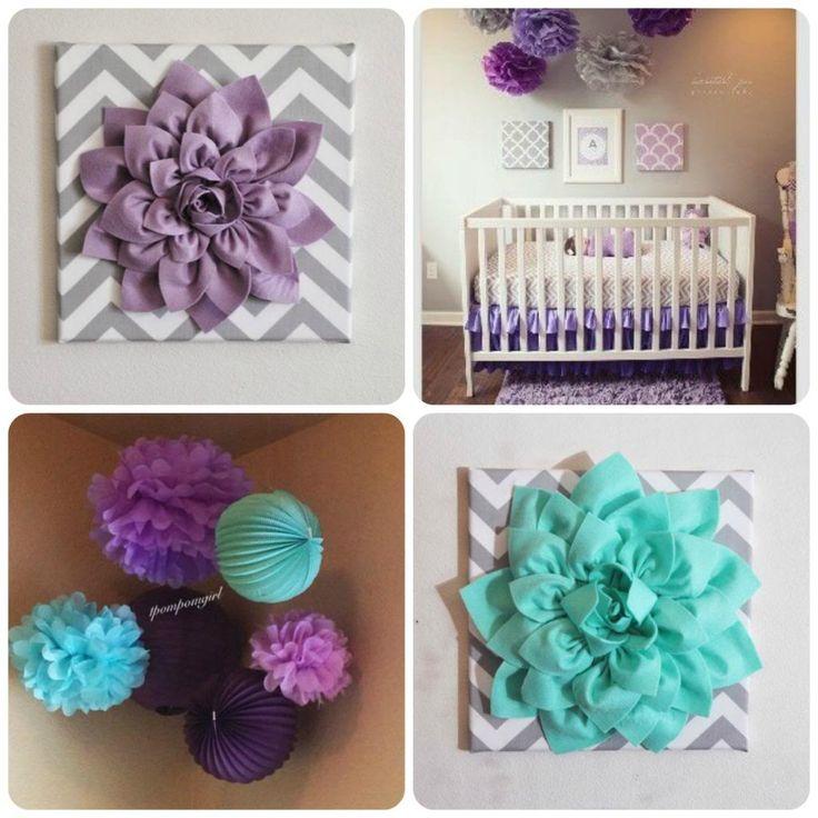 purple, turquoise and grey nursery!!.