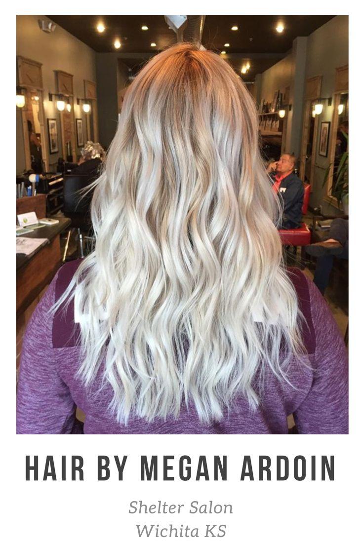 Lovely blonde balayage by Megan Ardoin | Kevin.Murphy color | Shelter Salon | Wichita, KS