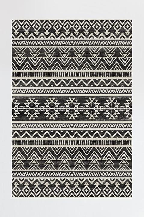 Linear Aztec Black Rug Tappeti, Tappeti salotto