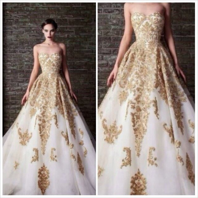 Beautiful Gold Ball Gown Brides Pinterest Gowns And Dresses