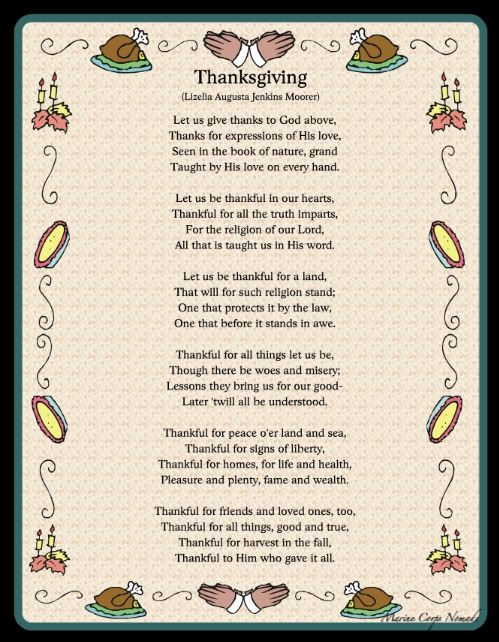 Christian Thanksgiving Poems | productive pre thanksgiving day happy thanksgiving 2010 by heather l