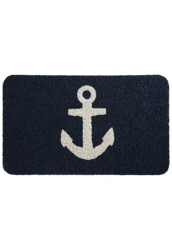 1st Floor / In The Cadette Staff Bathroom / 4 x 6 Navy, classic nautical rug